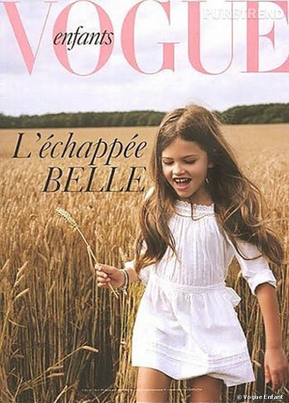 Thylane Blondeau, future Kate Moss, pose en cover de Vogue.
