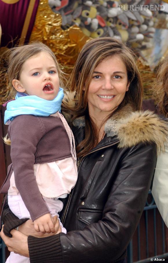 Véronika Loubry et sa fille Thylane, en 2004.