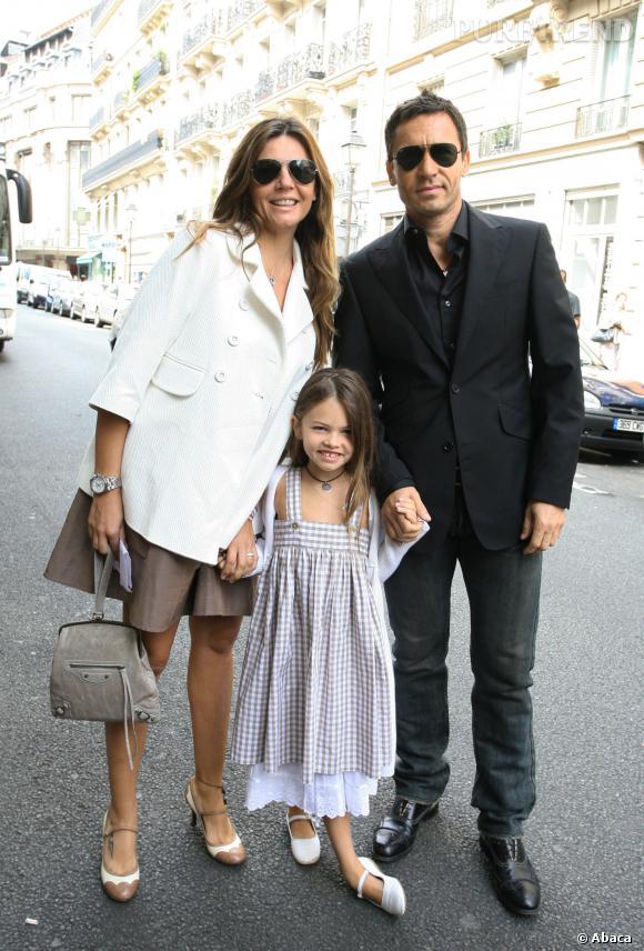 Véronika Loubry et son mari, Patrick Blondeau, avec leur fille Thylane en 2007.