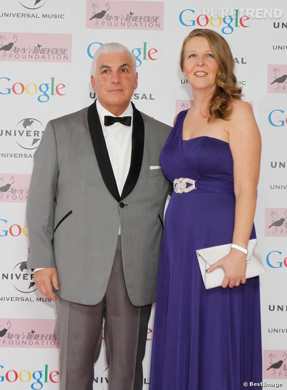 Mitch et Jane Winehouse, les parents d'Amy au Bal de la fondation dédiée à leur fille, le 20 novembre 2013.