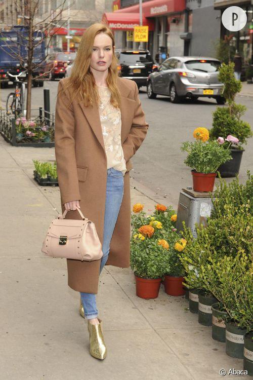 Kate Bosworth s'arrête chez le fleuriste à New York.
