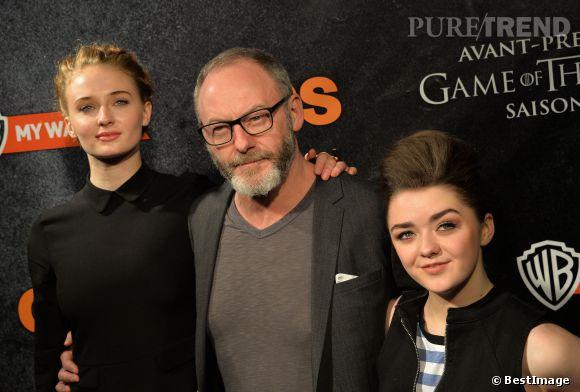 """""""Game of Thrones"""" saison 4 : Sophie Turner, Liam Cunningham et Maisie Williams à Paris. Un événement Warner et OCS."""