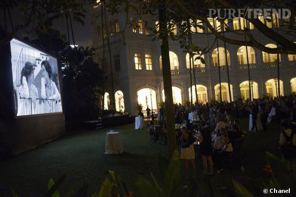 """Projection privée du court-métrage """"Once Upon a Time"""" de Karl Lagerfeld à Singapour."""