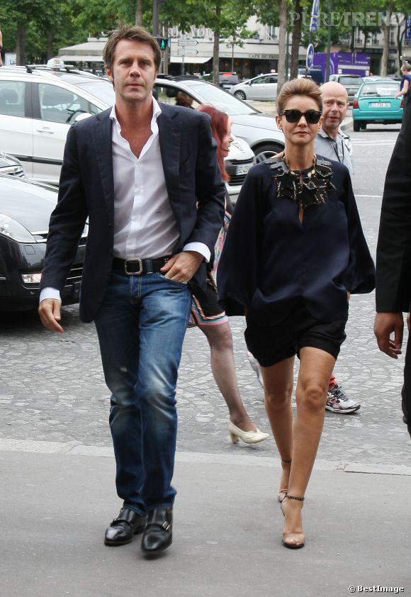 Avec son mari, le Prince Emmanuel-Philibert de Savoie.