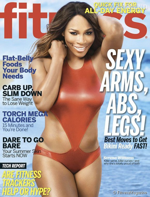 Serena Williams fait la couverture de Fitness magazine. Ses courbes elle les assume!