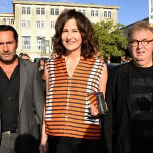 Dominique Besnehard, Valérie Lemercier et Gilles Lellouche le 26 août 2013 au festival d'Angoulême.
