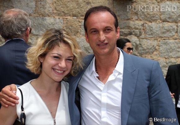Emilie Dequenne et Michel Ferracci au mariage de Thomas Langmann en juin 2013.