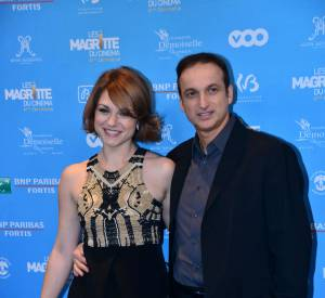 Emilie Dequenne et son compagnon Michel Ferracci aux Magritte du cinema en février 2014.