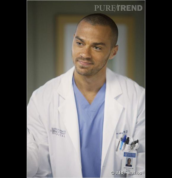 "Jesse Williams, l'un des médecins les plus craquants de ""Grey's Anatomy""."