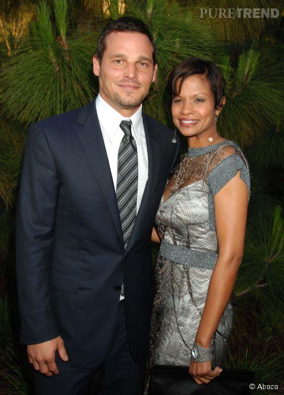 """Justin Chambers, alias de docteur Karev de """"Grey's Anatomy"""", avec sa femme Keisha. Tous deux sont mariés depuis 21 ans !"""