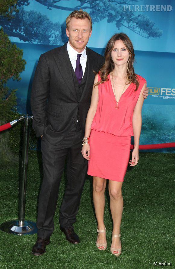 """Kevin McKidd, le beau Dr Hunt de """"Grey's Anatomy"""", en compagnie de sa femme."""