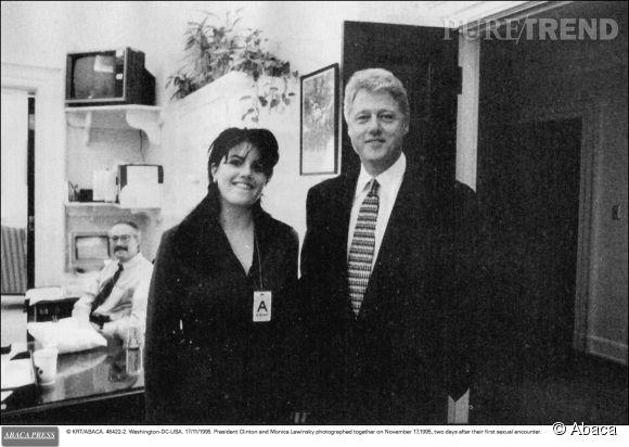 Monica Lewinsky et Bill Clinton en novembre 1995.