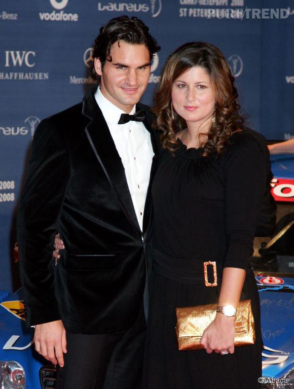 Roger Federer et sa femme Mirka en 2009.