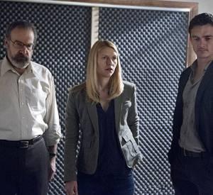 """Mandy Patinkin, Claire Danes et Rupert Friend (Peter Quinn) dans """"Homeland"""" saison 3."""