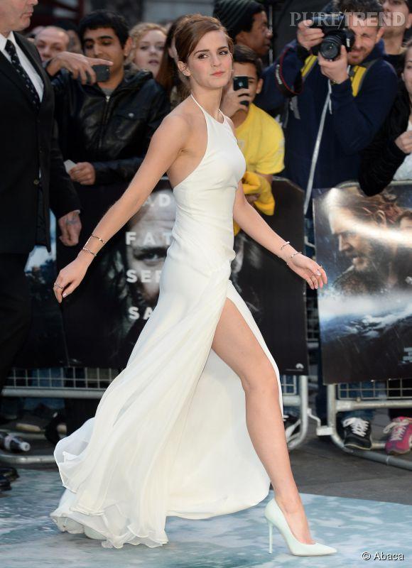 Emma Watson et sa silhouette de rêve dans sa robe Ralph Lauren blanche.