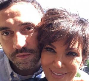 Kris Jenner et Riccardo Tisci en Italie, pour le mariage de Kim Kardashian et Kanye West.