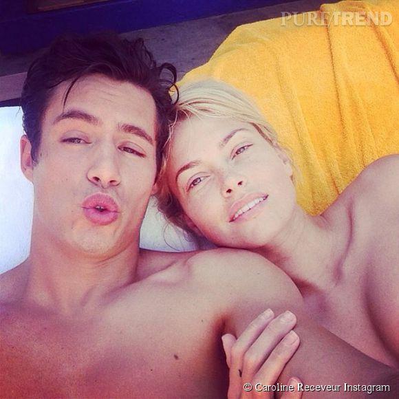 Caroline Receveur partage les photos de ses vacances à Miami sur Instagram en mai 2014.
