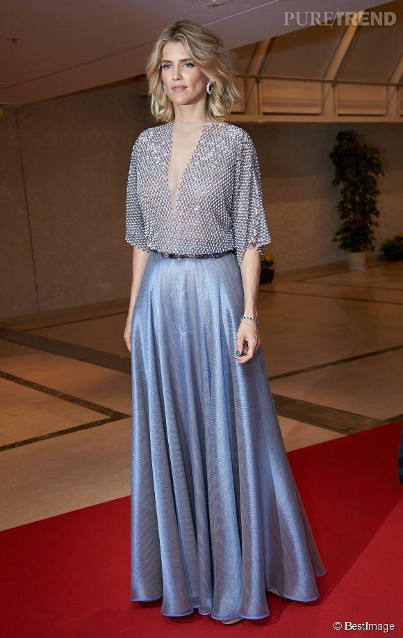 Alice Taglioni, sublime égérie Dessange lors du Festival de Cannes 2014.