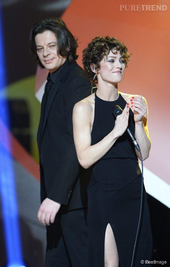 Vanessa Paradis et Benjamin Bioley lors des Victoires de la musique en février 2014.
