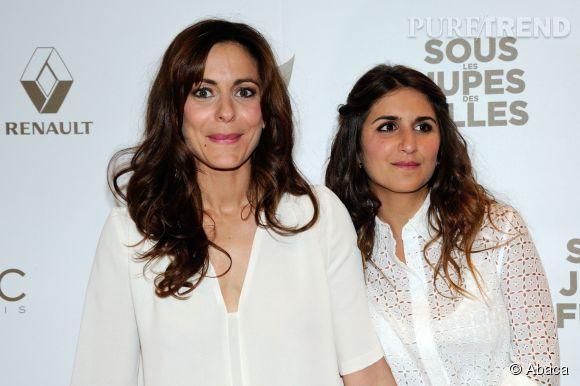 Audrey Dana et Geramdine Nakache lors de l'avant-première de Sous les jupes des filles, le 2 juin 2014.