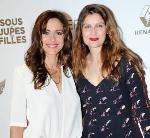 Audrey Dana et Laetitia Casta lors de l'avant-première de Sous les jupes des filles, le 2 juin 2014.