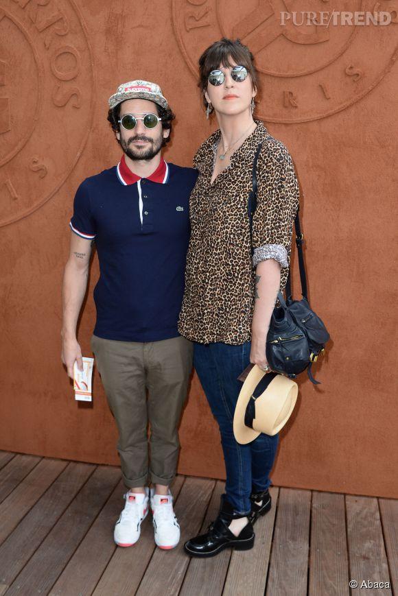 Daphné Burki et Gunther Love à Roland Garros le 7 juin 2014.