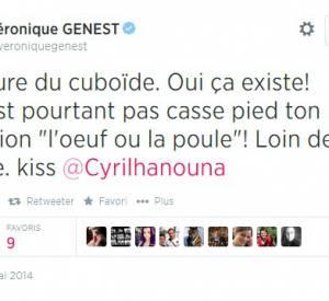"""Véronique Genest a twitté sa chute sur l'enregistrement de l'émission """"L'oeuf ou la poule""""."""