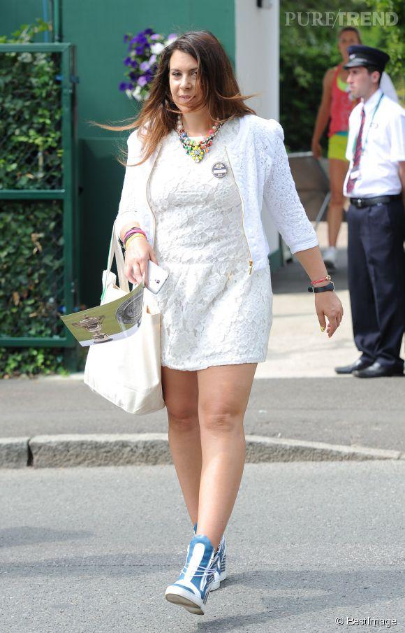 Marion Bartolià Wimbledon le 23 juin 2014.