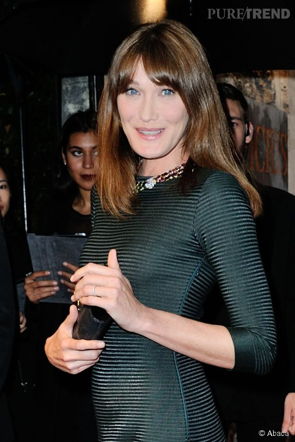 Carla Bruni, jolie égérie Bulgari hier à Paris.