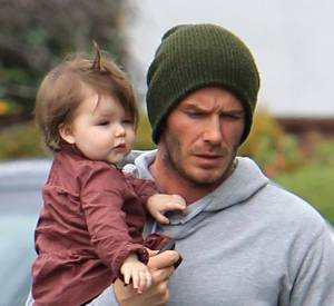 Harper Seven, inséparable de son père David Beckham.