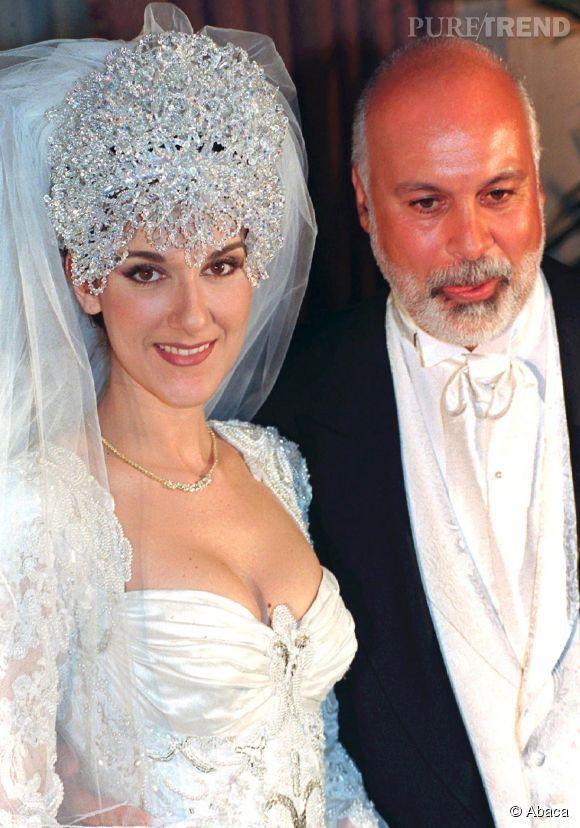 Céline Dion en 1994 lors de son mariage avec René.