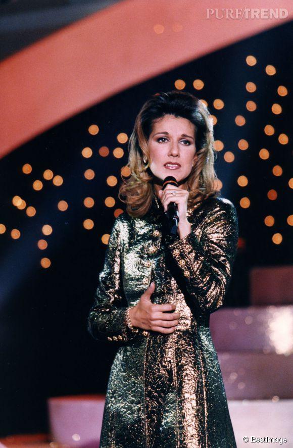 Céline Dion en 1996, la choucroute qui va bien, elle est devenue une star grâce à René.