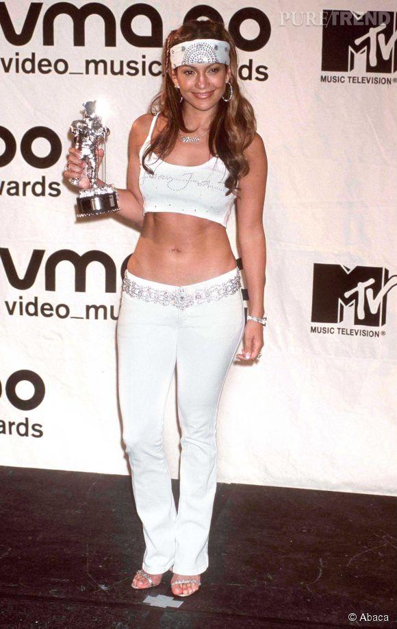 Jennifer Lopez aux MTV VMA en 2000.