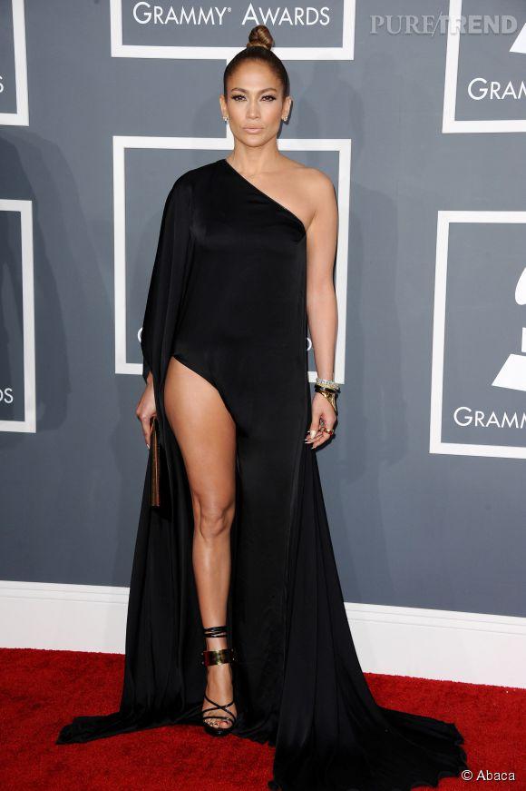 Jennifer Lopez en Anthony Vaccarello aux Grammy en 2013.