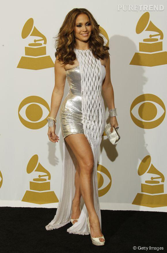 Jennifer Lopez en Versace aux Grammy en 2010.