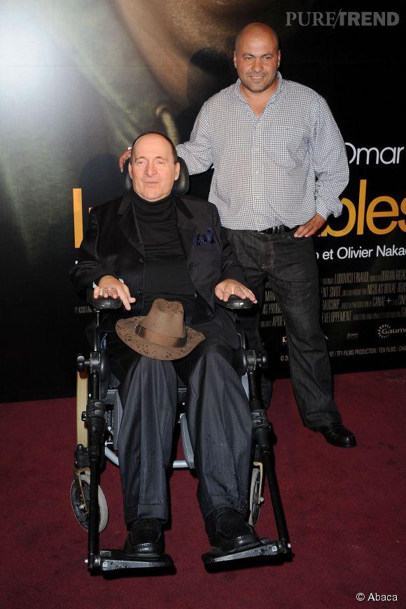 """Abdel et Philippe Pozzo di Borgo, les deux hommes ayant inspirés """"Intouchables""""."""
