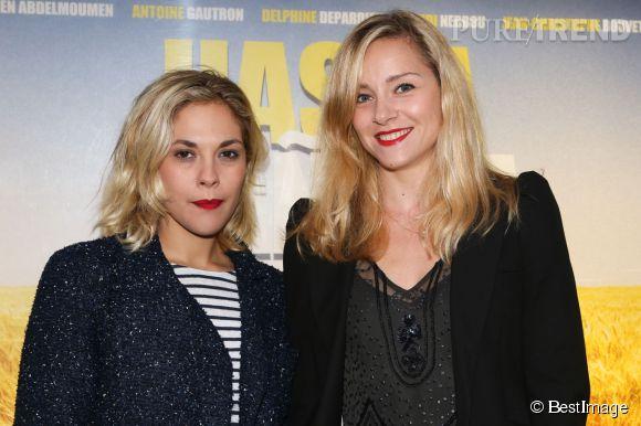 """Alysson Paradis et Delphine Depardieu assurent la promotion du film """"Hasta mañana"""" de Sébastien Maggiani et Olivier Vidal à Paris le 29 juillet 2014."""