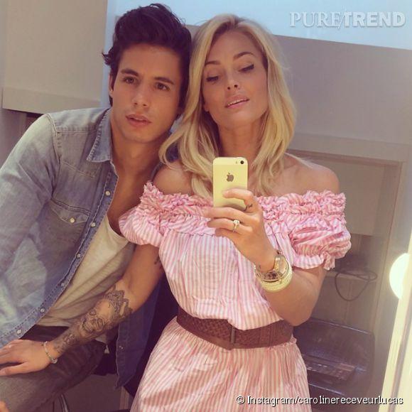 Caroline Receveur et son chéri Valentin vivent leur amour sur les rédeaux sociaux.