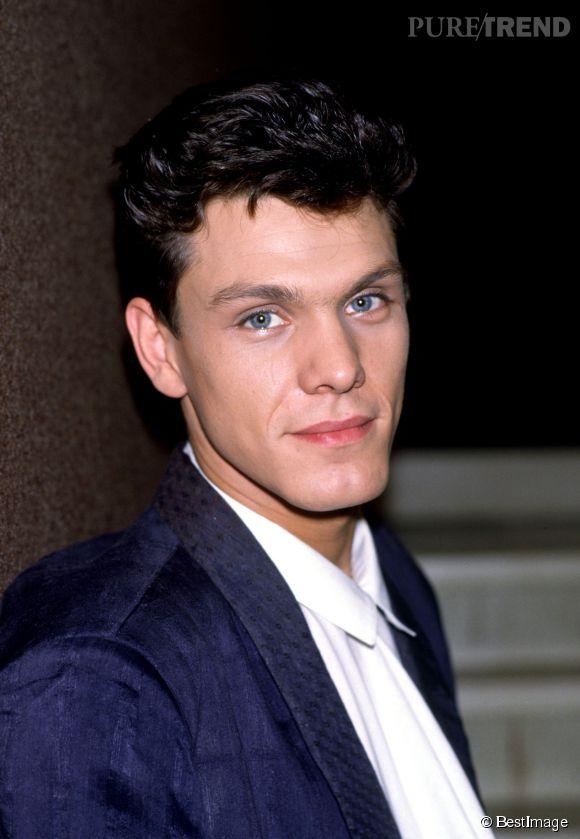 Marc Lavoine et ses yeux beaux yeux clairs en 1985.