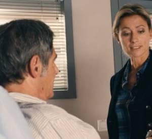 Anne-Sophie Lapix dans une scène avec Gérard Lanvin.