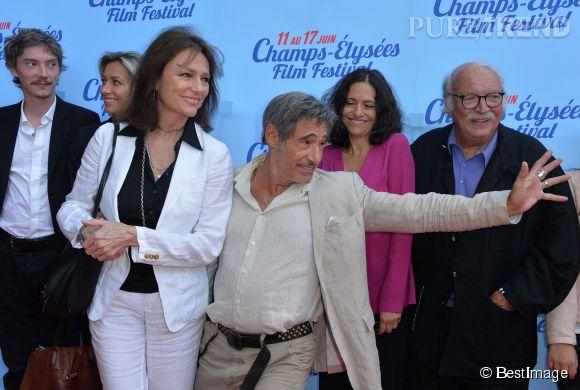 Gérard Lanvin n'a pas pu s'empêcher de faire le show lors de l'avant-première du film en juin 2014.