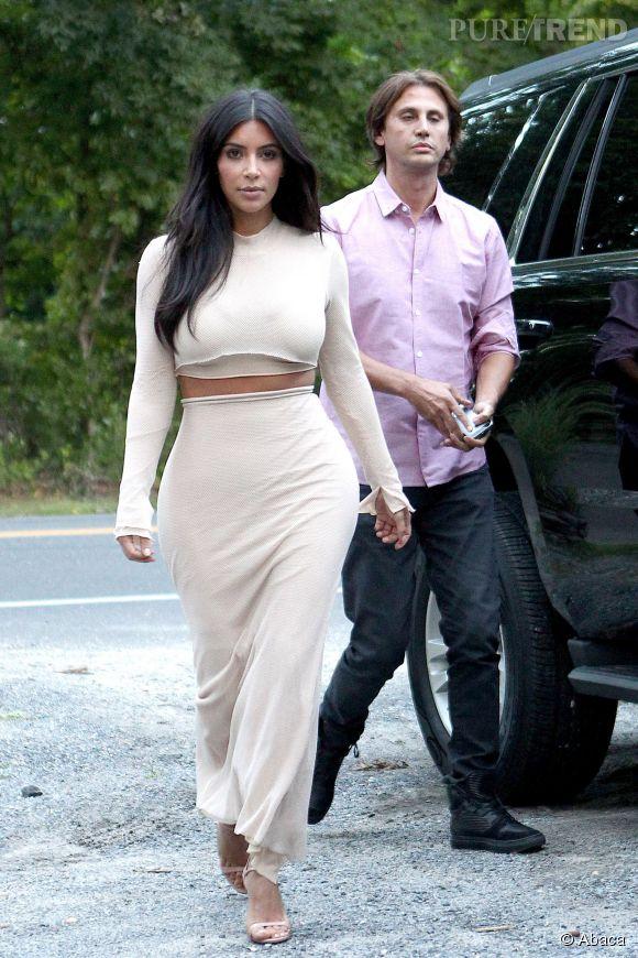 Kim Kardashian, un look ultra-moulant et 100% nude.