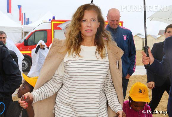 """Valérie Trierweiler, en Normandie pour l'association """"Journée des oubliés des vacances""""."""