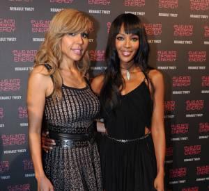 Cathy Guetta lors de sa soirée d'anniversaire, en mars 2012. Sa réussite lui permet aujourd'hui de frayer avec les stars, comme la top Naomi Campbell.