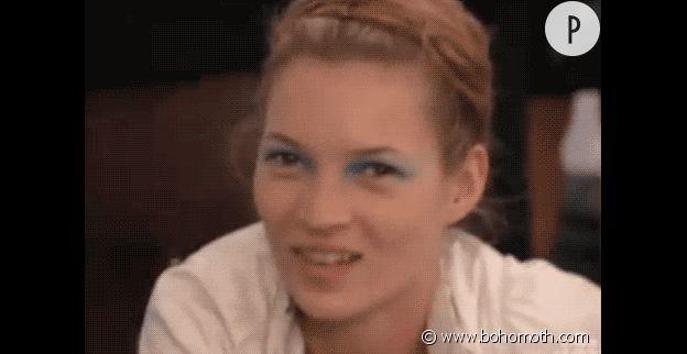 Kate Moss et ses paupières bleues, so 1990.