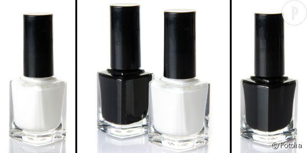 Le vernis blanc Tipex vs le noir gothique.