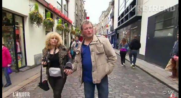 """""""L'amour est dans le pré 2014"""" : François et Marie-Line comme en lune de miel à Dublin."""