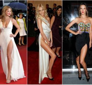 Virginie Efira, Kim Kardashian, Anja Rubik : les 15 fendus les plus osés