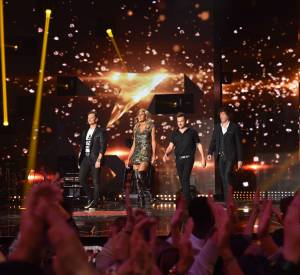 "David Hallyday, Cathy Guetta, Morgan Serrano et Cali : le jury de ""Rising Star""."