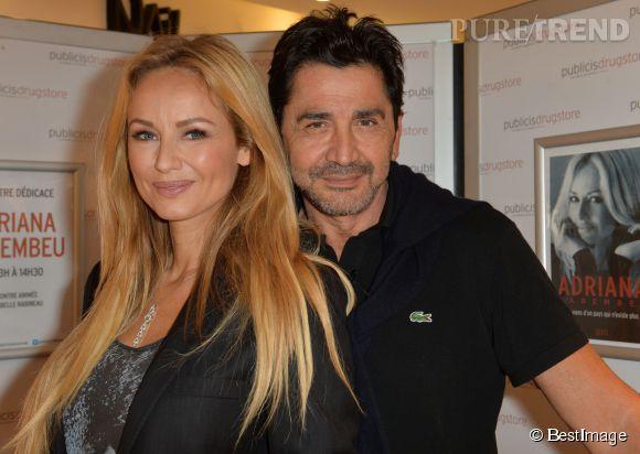 Adriana et son mari sont désormais inséparables comme ici pour la promotion du livre de la belle au Publicis Drugstore à Paris.
